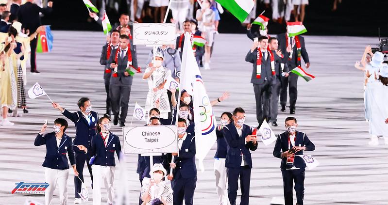 東京奧運台灣代表團進場。(特約攝影侯禕縉/現場拍攝)