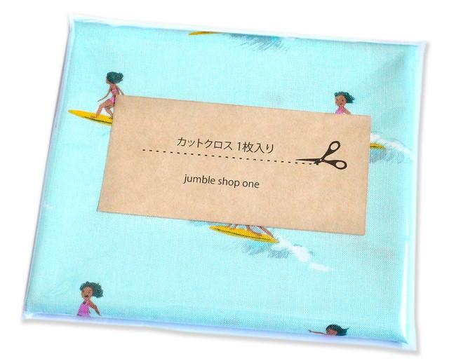 カットクロス Windham Fabrics Malibu 52146-6 Tiny Surfers Sea Foam