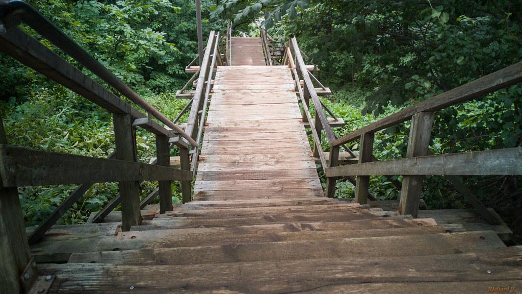 Escalier du Cap-Blanc, Plaines d'Abraham, Québec, Canada - 105127