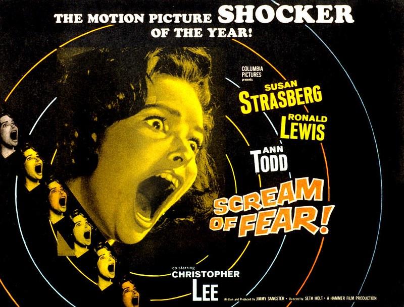 Scream of Fear / Taste of Fear (Seth Holt, 1961) - poster US du film
