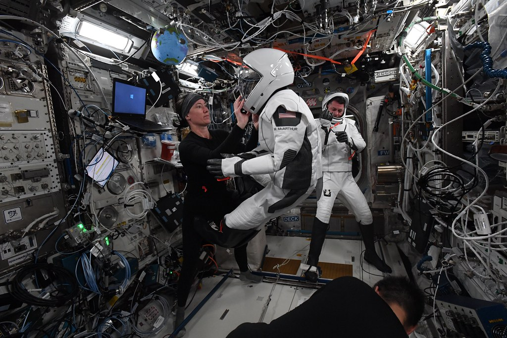 Spacesuit try-out