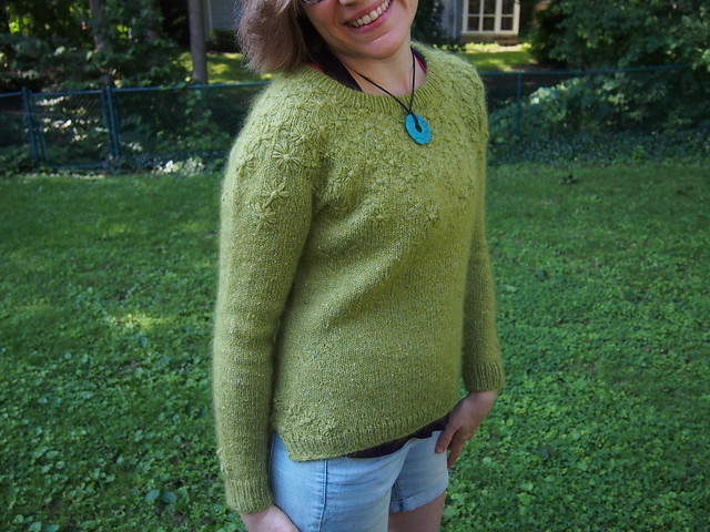 """""""Late Bloomer"""" sweater is complete!"""