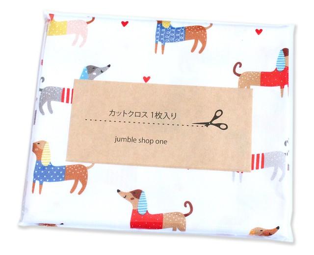 カットクロス Robert Kaufman Fabrics Whiskers & Tails SRK-20414-195 Let's Pawty Dogs Bright