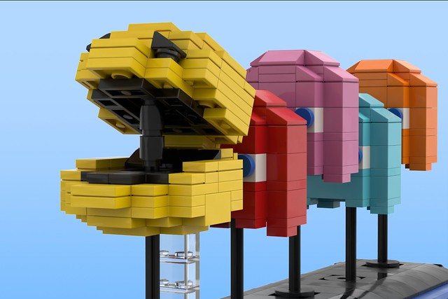 Moving PAC-MAN Display - On Lego Ideas