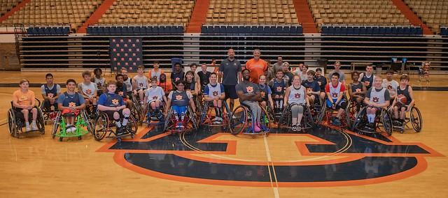 Auburn Wheelchair Basketball Camp group photo