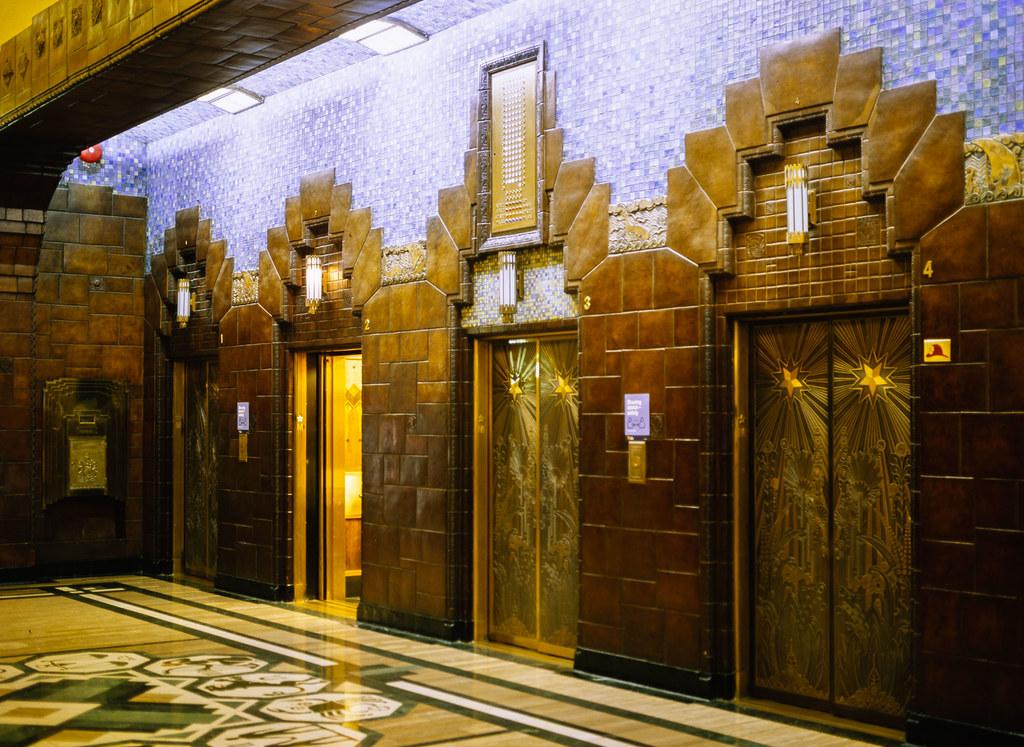 Marine Building Art Deco Elevators