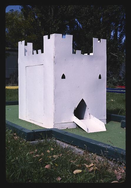 Castle, mini golf at Oasis Park Resort, Ephrata, Washington (LOC)
