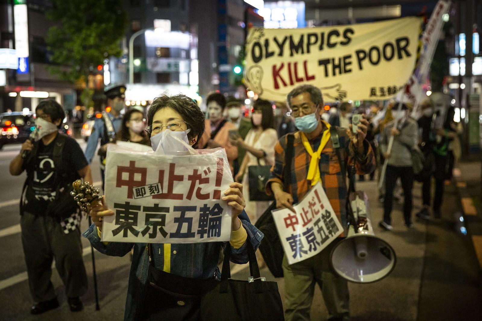 高達八成的日本民眾反對奧運於今年夏天舉辦。(圖片來源:The New Republic)