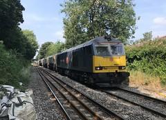 60074 approaching Northenden Jn signal box on 23/7/21
