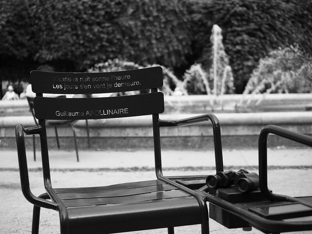 Chaise de poésie BW