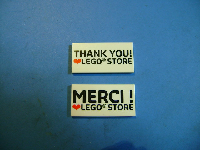 Lego store thank you tile.