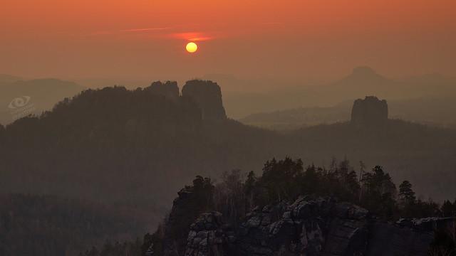 Sächsische Schweiz: Sunset   ·  ·  ·  (R5B_2565)