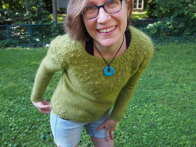 """""""Late Bloomer"""" sweater is finished!"""