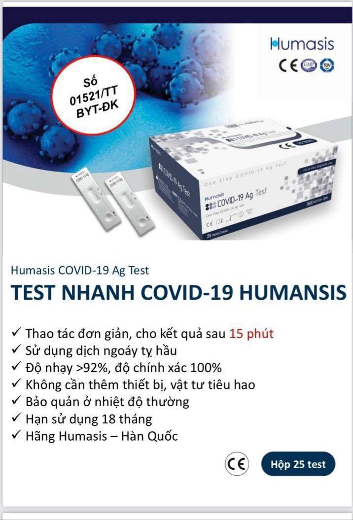 Bộ test covid Humasis