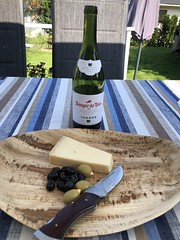 Wine, cheese and olives