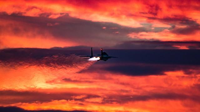 Sunset departure..