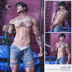 Cool Off Male Pose Set @ Mainstore!
