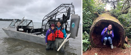 WDFW airboat & Cape Disappointment
