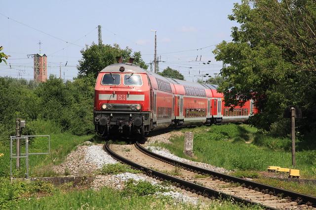 218 416, Landshut Hbf, 21. Juli 2021