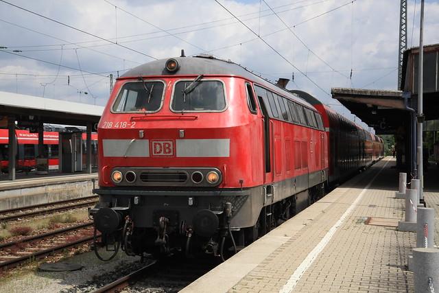 218 418, Landshut Hbf, 20. Juli 2021