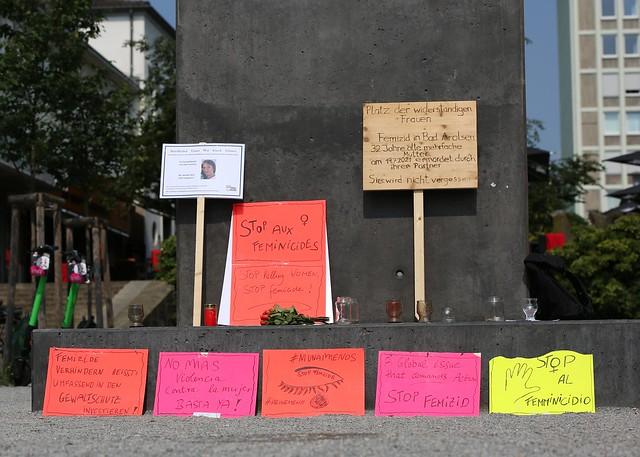 Femizid in Bad Arolsen Mahnwache am 23.07.2021