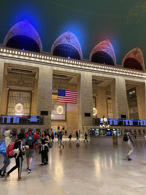 Grand Central the night I came back on July 6, 2021