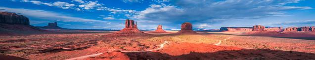 Monument Valley Mittens Buttes Fine Art Landscape Nature Photography! Beautiful Magical Mystical Clouds Sunset!  Dr. Elliot McGucken Master Luxury Fine Art Utah Photographer! East Mittens Butte, West Mittens Butte, Merrick Butte!