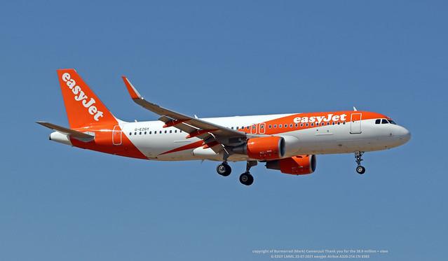 G-EZGY LMML 23-07-2021 easyJet Airbus A320-214 CN 8385