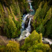 Aerial View of Nooksack Falls, Washington State.
