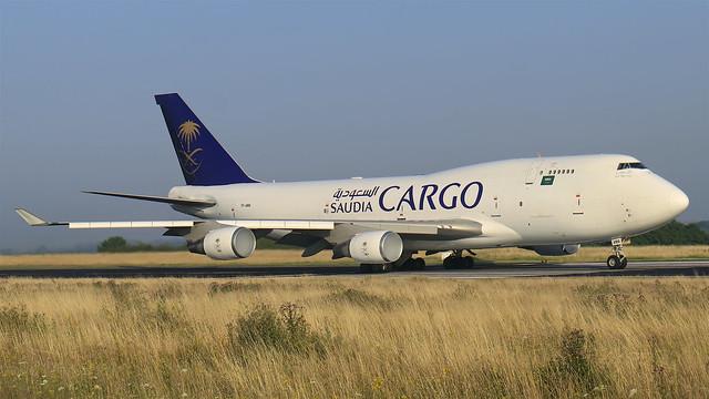 TF-AMA Saudi Arabian Airlines Boeing 747-45E(BDSF) - Liege AirPort (LGG/EBLG)