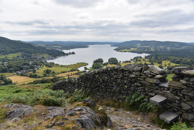 windermere from gilbert scar with wall