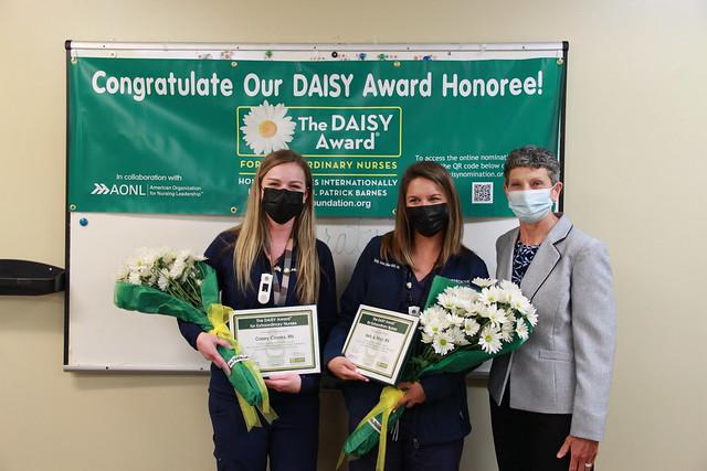 DAISY Winners - Casey Crooks, RN & Kelly Minor, RN with CNO Dr. Terri Poe