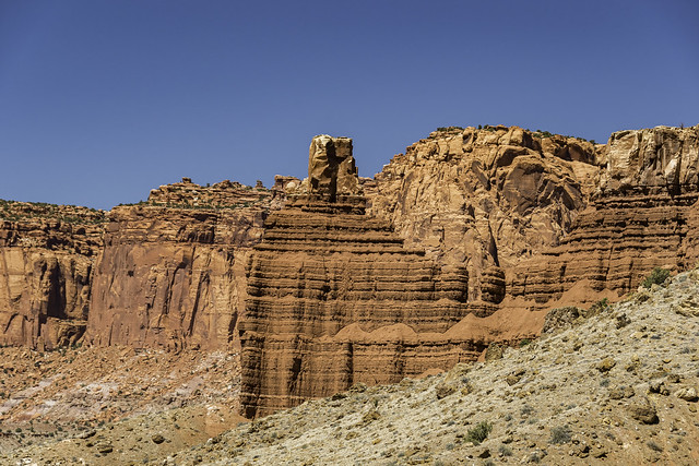 Chimney Rock along Utah State Route 24 in Capitol Reef NP