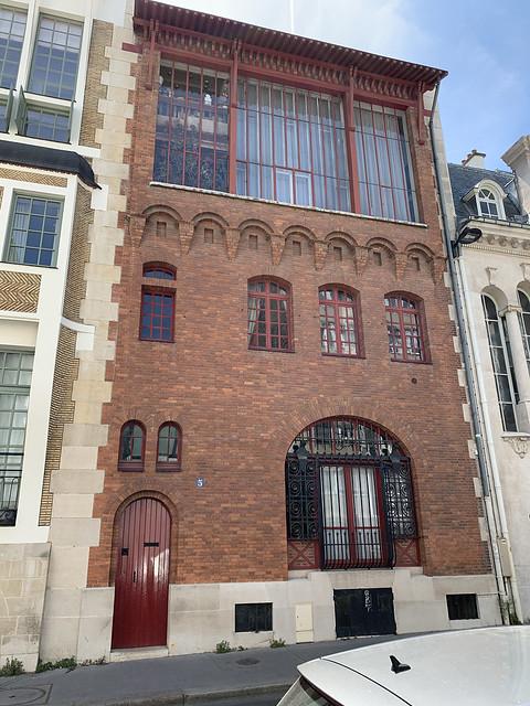2021.06.15.021 PARIS - Rue Cassini, hôtel de Lucien et Jeanne Simon, peintre (1906) par Louis Süe