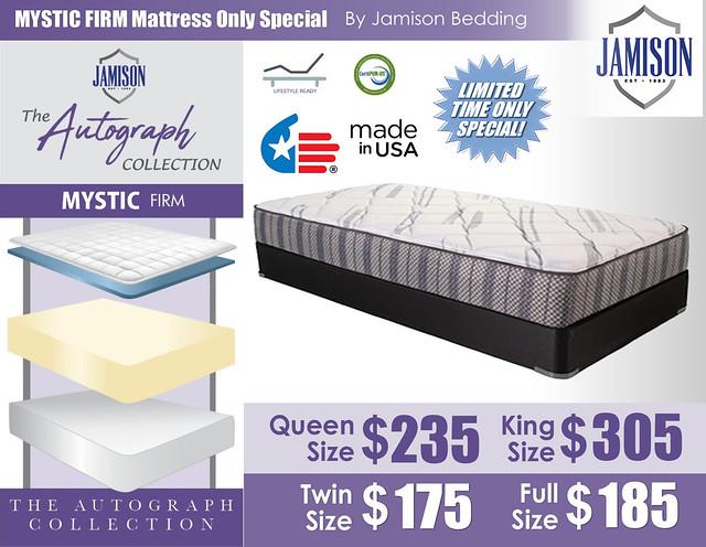 Mystic Firm Mattress by Jamison Bedding_July2021
