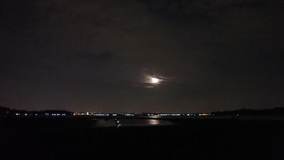 Moon set over Pulau Sekudu