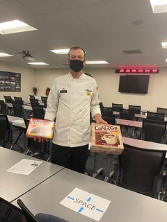 Dining Facility Manager excited about Heater Meals.