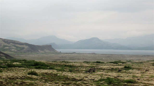View to Þingvallavatn and mountains, Iceland