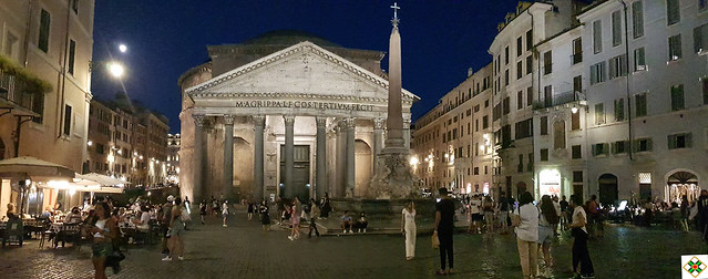 The Moon above the Pantheon