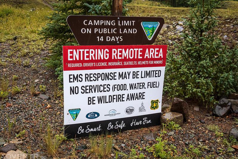 Entering Remote Area