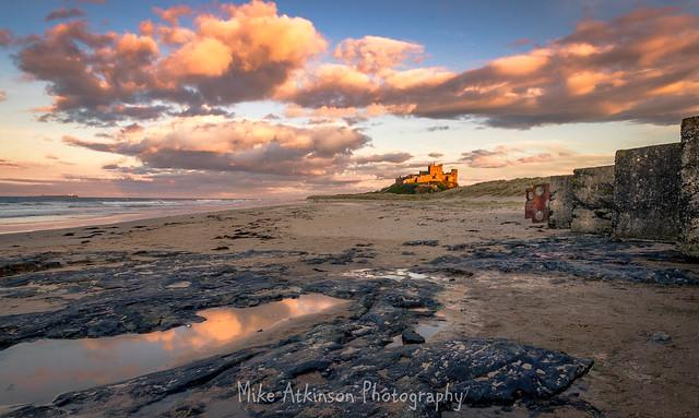 Approaching Sunset On Bamburgh Beach