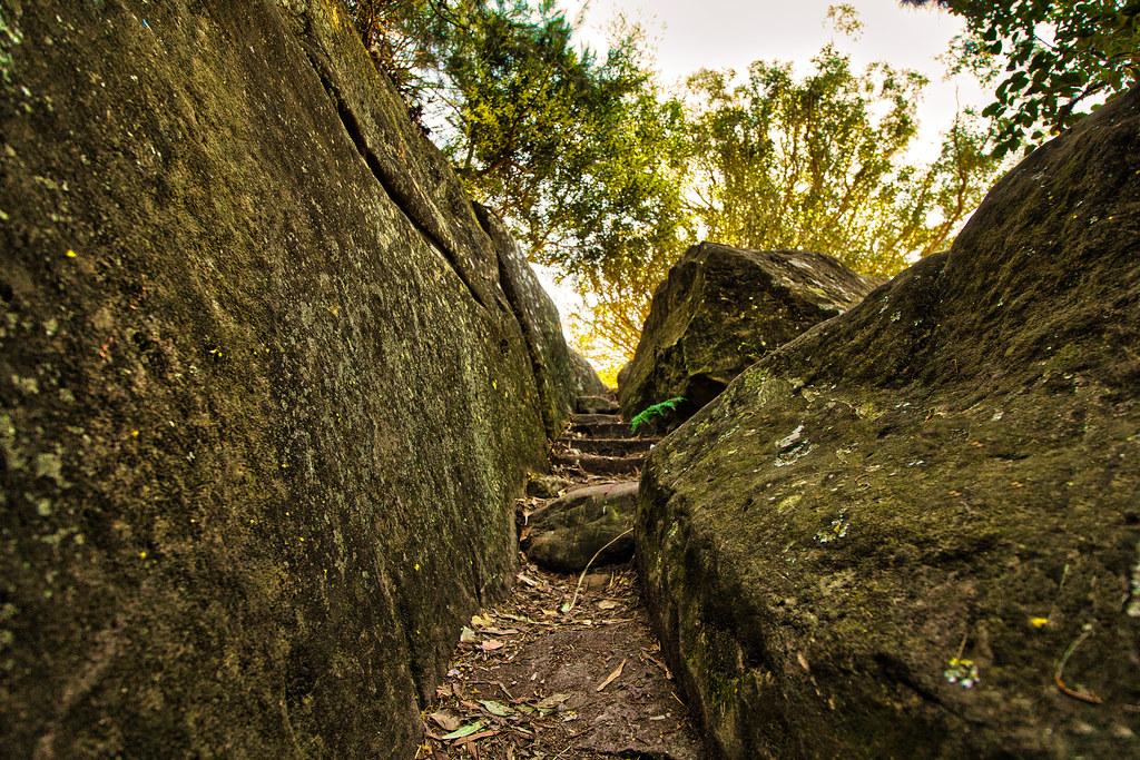 Pathway between rocks