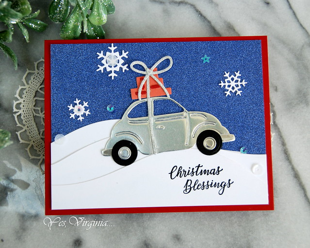 Christmas blessings (Special Delivery-Color Block Scenic Scape Etched Dies )