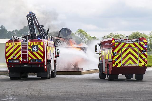 Defence Fire & Rescue Service / Oshkosh Striker HRET and MAN Angloco MPRV