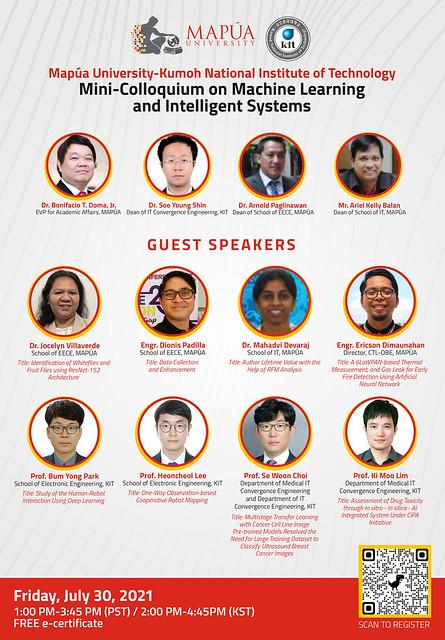 Mapúa University-Kumoh National Institute of Technology Mini-Colloquium on Machine Learning and Intelligent Systems