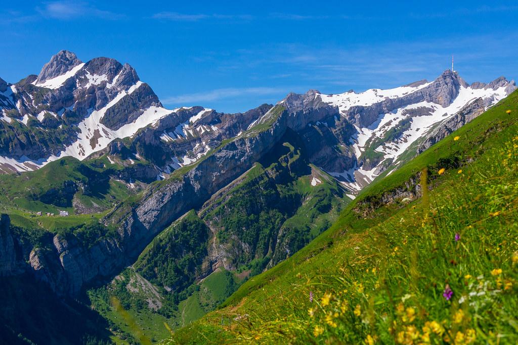 Alpstein Mountain Range
