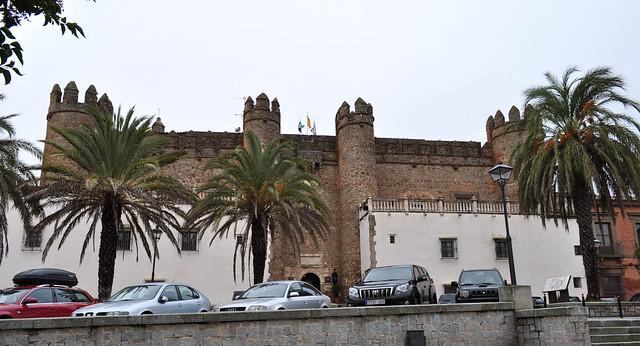 Ancien palais des Ducs de Feria XVe siècle, plaza Corazón de María, Zafra, province de Badajoz, Estrémadure, Espagne.