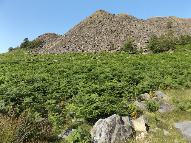 Spoil Heaps at Crowden Great Quarry, Derbyshire, 17 July 2021