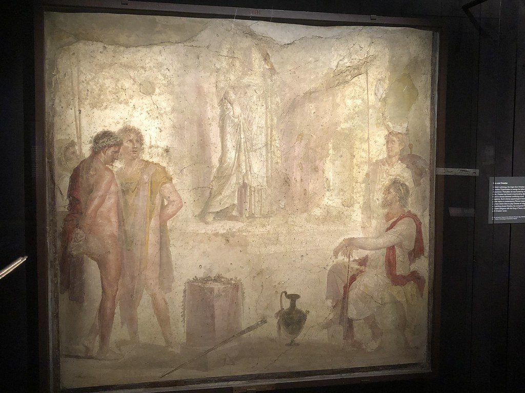 Fresco of Orestes