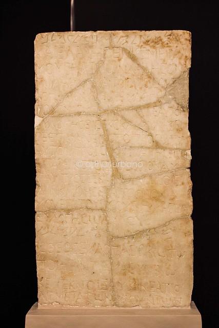 Dedicatory inscription in Samaritan and Greek (Thessaloniki, Greece)